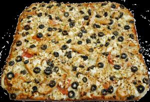 Full Greek Chicken Pizza